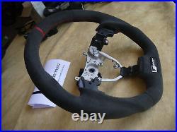 08-13 Lexus custom steering wheel is250 is220 is300 flat bottom thick Alcantara