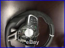 12-17 Jaguar steering wheel custom thick flat bottom XFR XK XKR XF R S type