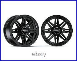 14 RockTrix RT103 14x7 4x156 ATV Wheels Rims, 4+3 offset, Includes 3/8x24 Nuts