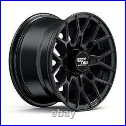 14 RockTrix RT104 14x7 4x156 ATV Wheels Rims, 4+3 offset, Includes 3/8x24 Nuts