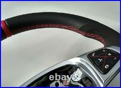 15-18 OEM MERCEDES C W205 GLC X253 NEW NAPPA / ALCANTARA SW RED AMG/SPORT flat