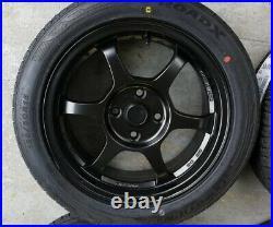15 6-spoke Matt black 4x100 wheels&tyres fits CIVIC MX5