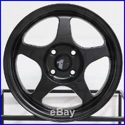 15x6.5 AVID1 AV08 AV-08 4x100 35 Matte Black Wheels Rims Set(4)