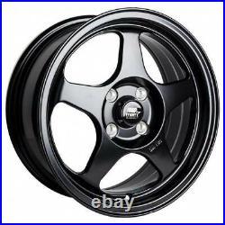 15x6.5 MST MT29 4x100 35 Matte Black Wheels Rims Set(4) 73.1