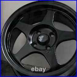 15x6.5 Matte Black Wheels AVID1 AV08 4x100 35 (Set of 4) 73.1