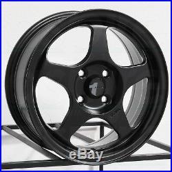 15x6.5 Matte Black Wheels AVID1 AV08 AV-08 4x100 35 (Set of 4)