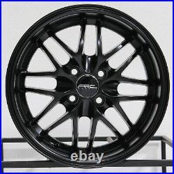15x7 Matte Black Wheels ARC AR3 4x100 20 (Set of 4) 73.1