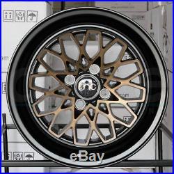 15x8 JNC 040 JNC040 4x100 25 Matte Black Bronze Face Wheel New set(4)