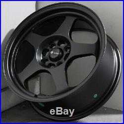 15x8 Matte Black Wheels Vors SP1 4x100/4x114.3 20 (Set of 4)