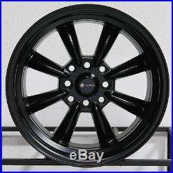 15x8 Matte Black Wheels Vors TR9 4x100/4x114.3 20 (Set of 4)