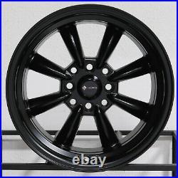 15x8 Matte Black Wheels Vors TR9 4x100/4x114.3 20 (Set of 4) 73.1