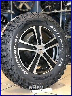 16 Alloy Wheels Fiat Ducato 5/118 5x118 Bfg All Terrain Tyres Matt Black