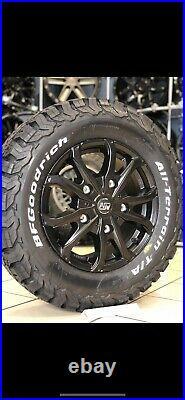 16 Alloy Wheels Vauxhall Vivaro 5x118 5/118 Bfg All Terrain Tyres Matt Black