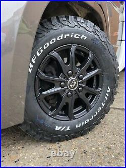 16 Ford Transit Custom Alloy Wheels Matt Black Bfg All Terrain Tyres 5x160