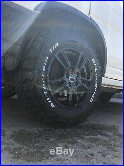 16 Vw T4 Matt Black Alloy Wheels Bfg All Terrain Tyres Rugged Offroad 5x112