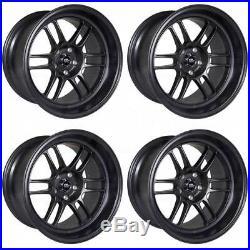 16x7 Matte Black Wheels MST Suzuka 4x100/4x114.3 25 (Set of 4)