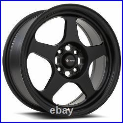 16x7 Matte Black Wheels Vors SP1 4x100/4x114.3 38 (Set of 4) 73.1