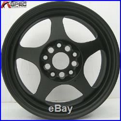 16x7 Rota Slipstream Wheels 5x114.3 Flat Black Rims Et40mm Fits CIVIC 2006-2012