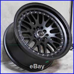 16x8/16x9 JNC 001 JNC001 4x100/4x114.3 10/10 Matte Black Wheel Rims set(4)