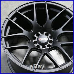 16x8 Flat Black Wheels XXR 530 4x100/4x114.3 20 (Set of 4)