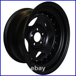 16x8 John Red Steel Black Matt Rims Wheels 5x120 Et20 For Discovery Vw Set Of 2