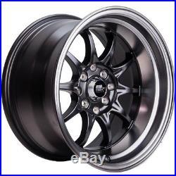 16x8 MST MT11 5x100/5x114.3 +15 Matte Black Wheels (Set of 4)