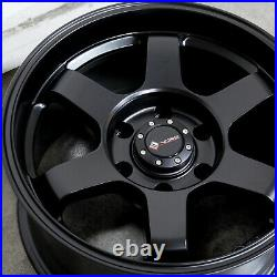 16x8 Matte Black Wheels Vors VE37 fit Tacoma 4Runner FJ Cruiser 6x5.5/6x139.7 -1