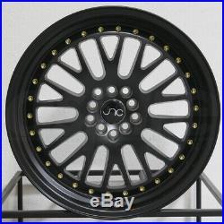16x9 Matte Black Wheels JNC 001 JNC001 5x100/5x114.3 10 (Set of 4)