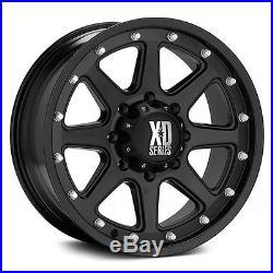 17 Inch Wheel Rims Matte Black Jeep Wrangler JK XD Series XD798 5x5 SET OF FOUR