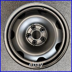 17 Steel Wheels Fits Vw T5 T6 Transporter Matt Black Swamper 4x4 All Terrain