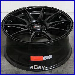 17x7.5 Flat Black Wheels XXR 527 4x100/4x114.3 40 (Set of 4)