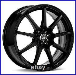17x7 Enkei EDR9 4x100/108 +38 Black Wheels (Set of 4)