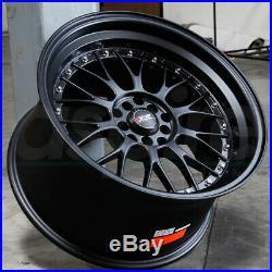 17x7 Flat Black Wheels XXR 521 5x100/5x114.3 38 (Set of 4)