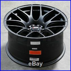 17x7 Flat Black Wheels XXR 530 5x100/5x114.3 35 (Set of 4)