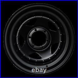 17x7 John Red Steel Black Matt Rims Wheels 6x114,3 Et0 For Navara D40 Np300