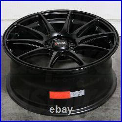 17x8.25 Flat Black Wheels XXR 527 4x100/4x114.3 25 (Set of 4) 73.1