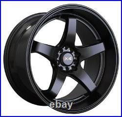 17x8 +35 XXR 555 Wheels 5x100/114.3 Flat Black Rims (Set of 4)
