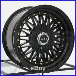 17x8.5 Matte Black. Wheels JNC 004 JNC004 5x100/5x114.3 15 (Set of 4)