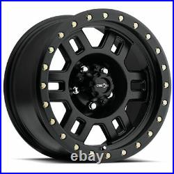 17x8.5 Vision 398 Manx 6x5.5/6x139.7 0 Matte Black Wheels Rims Set(4)