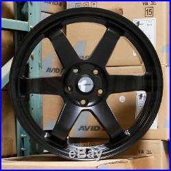 17x8 AVID1 AV06 AV-06 5x114.3 35 Matte Black Wheels Rims Set(4)