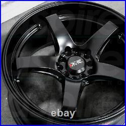 17x8 Flat Black Wheels XXR 555 5x100/5x114.3 35 (Set of 4)