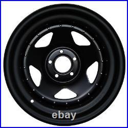 17x8 John Red Steel Black Matt Rims Wheels 5x120 Et25 For Discovery, Vw