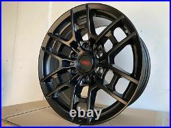 17x8 Matte Black Wheels Fit Toyota 4Runner Tacoma Pre Runner 6x139 +5 Rims Set