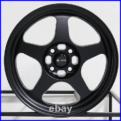 17x8 Matte Black Wheels Vors SP1 4x100/4x114.3 30 (Set of 4) 73.1