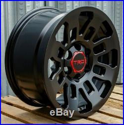 17x8 Pro Style Matte Black Wheels Fits Toyota TRD Tacoma FJ Cruiser 4Runner
