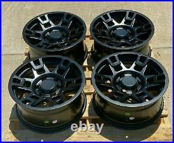 17x8 SEMA PRO Matte Black Wheels Fits Toyota Tacoma 4Runner FJ Cruiser Set of 4