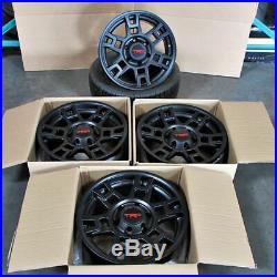 17x8 SEMA Pro Style Matte Black Wheels Fits Toyota TRD Tacoma FJ Cruiser 4Runner