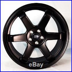 17x9 MST MT01 5x114.3 +35 Matte Black Wheels (Set of 4)