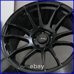 17x9 Matte Black Wheels AVID1 AV20 5x114.3 35 (Set of 4) 73.1