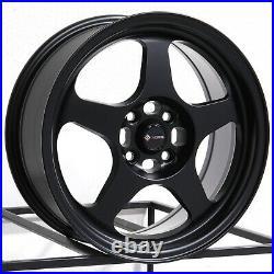 17x9 Matte Black Wheels Vors SP1 5x100/5x114.3 30 (Set of 4) 73.1